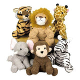 Fun Express Assortment Suede Jungle Animal (Set of 12)(Discontinued by manufa... - Chickadee Solutions