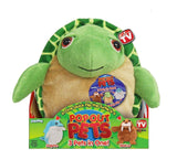 Pop Out Pets Ocean Reversible Plush Toy Get 3 Stuffed Animals in One - Turtle... - Chickadee Solutions - 1