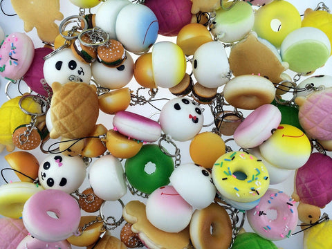 BeautyMood Variety of 8 Squishy Charms by kawaii - Chickadee Solutions - 1