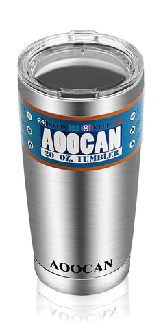Aoocan Coolers Tumblers 20 Oz Vacuum Insulated Double Wall Stainless Steel Tr... - Chickadee Solutions - 1