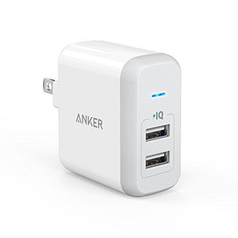 [Upgraded] Anker 24W Dual USB Wall Charger PowerPort 2 (with 2 Ports and Fold... - Chickadee Solutions - 1
