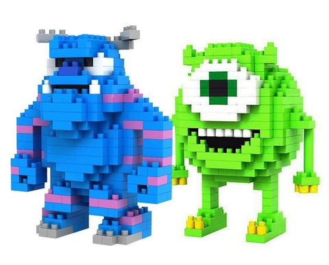 LOZ Diamond Blocks Monsters INC Mike Wazowski and Sulley 2 Pcs Set by LOZBlock - Chickadee Solutions - 1