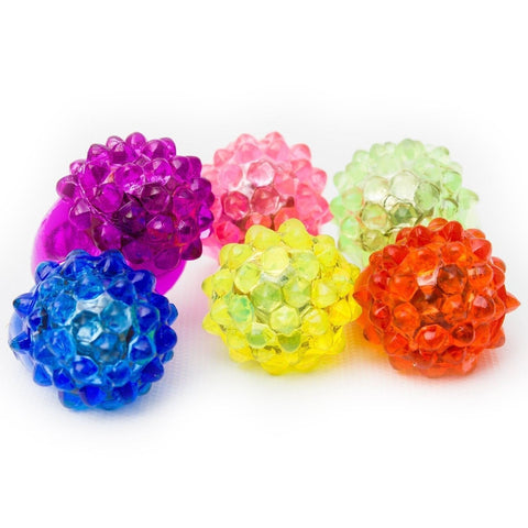 Fun Central I431 LED LIght Up Jelly Bumpy Rings - Assorted 24ct 24 ct - Chickadee Solutions - 1