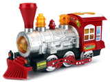 Steam Train Locomotive Engine Car Bubble Blowing Bump & Go Battery Operated T... - Chickadee Solutions - 1