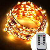 Dreamworth 40 Ft 240 LED's Copper Wire LightsRemote Battery Operated LED Stri... - Chickadee Solutions - 1