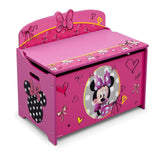 Delta Children Deluxe Toy Box Disney Minnie Mouse - Chickadee Solutions - 1