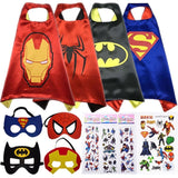 Super Kiddos Superhero Cape and Mask Costumes for Kids Set-Capes Masks Sticke... - Chickadee Solutions - 1