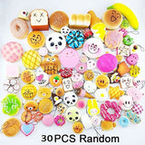 Random 30pcs Jumbo Medium Mini Soft Squishy Cake/Panda/Bread/Buns Phone Straps - Chickadee Solutions - 1
