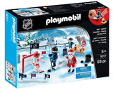 PLAYMOBIL NHL Advent Calendar Rivalry On The Pond Building Kit - Chickadee Solutions - 1