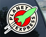 "Futurama Planet Express Vynil Car Sticker Decal - 5"" Regular: 5"" - Chickadee Solutions"