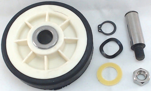 1 X Drum Roller with Shaft Replaces Maytag 303373 12001541 - Chickadee Solutions