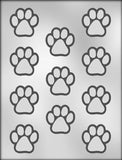 CK Products 1-1/2-Inch Paw Print Chocolate Mold - Chickadee Solutions