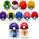 Moonideal 9 Pieces Different Style Ball +9 Pieces Figures Plastic Super Anime... - Chickadee Solutions - 1