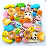 Random 10 Pack Squishies Squishy Toys Charms Cell Gift Phone Chain Phone Straps - Chickadee Solutions - 1