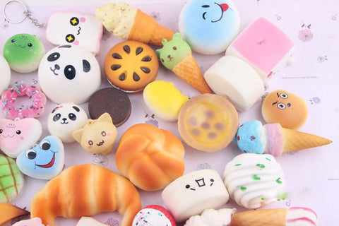 Squishy Toys Pack : Random 10 Pack Squishies Squishy Toys Charms Cell Gift Phone Chain Phone Straps Chickadee ...