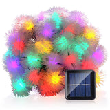 LUCKLED Chuzzle Ball Solar Christmas Lights 23ft 50 LED Fairy Decorative Stri... - Chickadee Solutions - 1