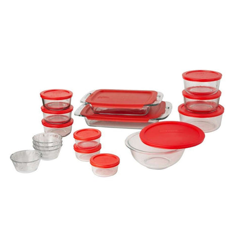 Pyrex Easy Grab 28-Piece Glass Bakeware and Food Storage Set 28 pc set - Chickadee Solutions - 1