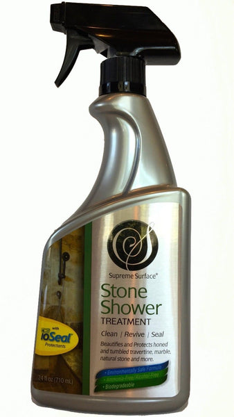 Supreme surface stone shower cleaner enhancer protectant for Cleaning products for marble showers