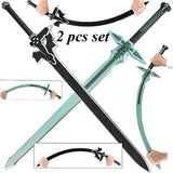 Sword Art Online Kirito Kirigaya Dark Repulsor/Elucidator Foam LARP Sword Set - Chickadee Solutions