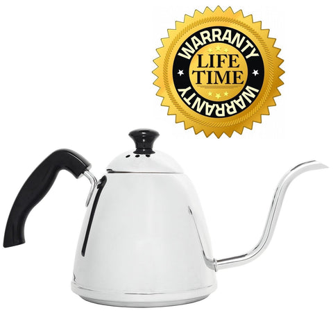 Steel Coffee Pour Over Kettle for Coffee and Tea Premium 18/10 304 Stainless ... - Chickadee Solutions - 1