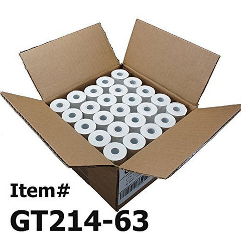 (50) Thermal Paper Rolls 2-1/4 X 63 Ingenico ICT 200 220 250 FD400 Vx520 - Chickadee Solutions