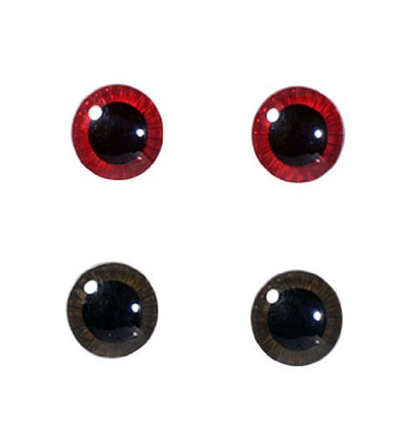 Eye Chip Selection for Pullip series Face & Body Set (Dark Red & Ash Brown) b... - Chickadee Solutions