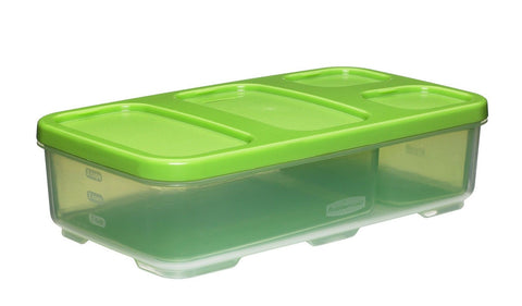 Rubbermaid Entree Container with Dividers & Lid Green Entrée Container - Chickadee Solutions - 1