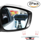 Upgrade Square-Shape Blind Spot MirrorsEMIUP 360 Adjustable Convex Mirror Fra... - Chickadee Solutions - 1