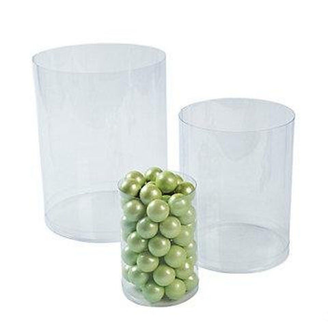 Cool Fun 13630491 Plastic Clear Candy Cylinders - Chickadee Solutions