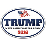 "6.5"" x 4.5"" Donald Trump Make America Great Again Oval Bumper Sticker Decal -... - Chickadee Solutions - 1"