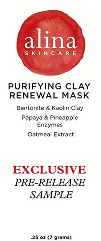 (PRE-RELEASE TRIAL SIZE) Alina Skin Care Purifying Clay Renewal Mask (Trial S... - Chickadee Solutions - 1