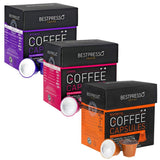 Nespresso Compatible Gourmet Coffee Capsules 60 Pod Variety Pack for Original... - Chickadee Solutions - 1