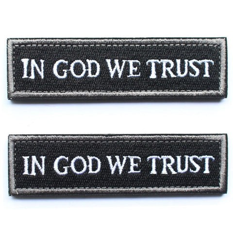 Bundle 2 pieces - Black In GOD We Trust Tactical Morale Patch with Velcro bac... - Chickadee Solutions - 1