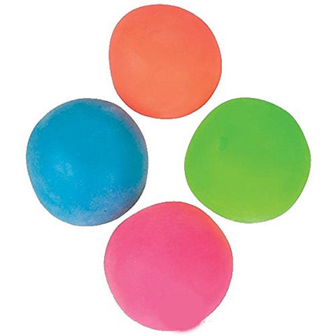 4 Pull and Stretch Stress Relief Bounce Ball Red Blue Green Orange 4Es Novelt... - Chickadee Solutions - 1