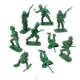 DELUXE BAG OF CLASSIC TOY GREEN ARMY SOLDIERS - 36 Pc. 1-Pack of 36 - Chickadee Solutions