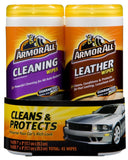 Armor All 82646 Cleaning and Leather Wipe - 20/25 Sheets (Pack of 2) - Chickadee Solutions