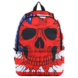 Hynes Eagle Printed Kids Backpack Red Skull - Chickadee Solutions - 1