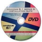 Windows 8.1 64-bit New Full Re Install Operating System Boot Disc - Repair Re... - Chickadee Solutions - 1