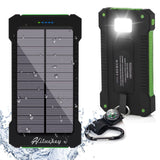 Solar Charger Hiluckey 10000mAh Portable USB Solar Power Bank Rugged Sun Pane... - Chickadee Solutions - 1