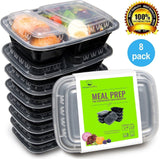 Bento Lunch Box Set - Meal Prep Food Storage - Restaurant Containers - Plasti... - Chickadee Solutions - 1