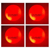 NEW 4 Red Nighthawk Glow In Dark LED Light Up Golf Balls Official Size Consta... - Chickadee Solutions - 1