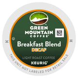Green Mountain Coffee Decaf Breakfast Blend K-Cup Portion Pack for Keurig K-C... - Chickadee Solutions - 1