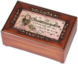 Cottage Garden Petite Rose Granddaughter Music Box Wood Grain - Chickadee Solutions - 1