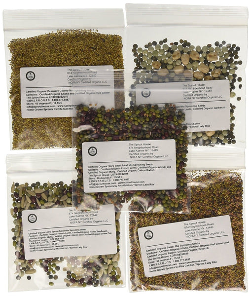 The sprout house assorted organic sprouting seeds mixes for Classic house sample pack