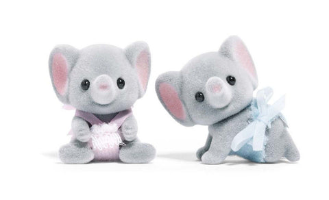 Calico Critters Ellwoods Elephant Twins - Chickadee Solutions - 1
