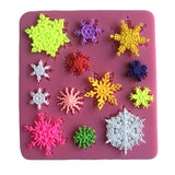 Snowflake Decoration Mould for Icing Chocolate Fondant Butter Resin Cabochon ... - Chickadee Solutions