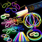 "100 Glow Stick Party Pack - 100 Mixed Color 8"" Premium Glowsticks with Connec... - Chickadee Solutions - 1"