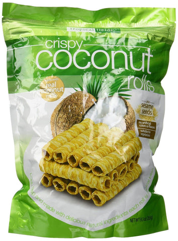 Tropical Fields Crispy Coconut Rolls with Sesame Seeds 9.3 oz - Chickadee Solutions - 1