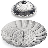 "Sunsella Vegetable Steamer - 5.3"" to 9.3"" - 100% Stainless Steel 5.3"" to 9.3"" - Chickadee Solutions - 1"