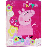 "Entertainment One Peppa Pig Peppa's Picnic Micro Raschel Throw 46 x 60"" - Chickadee Solutions"
